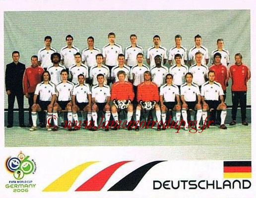 2006 - Panini FIFA World Cup Germany Stickers - N° 017 - Equipe Allemagne