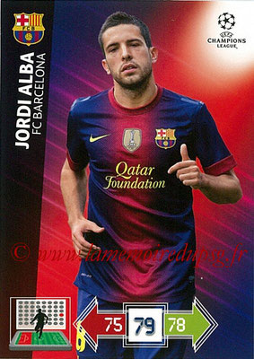 2012-13 - Adrenalyn XL champions League N° 030 - Jordi ALBA (FC Barcelone