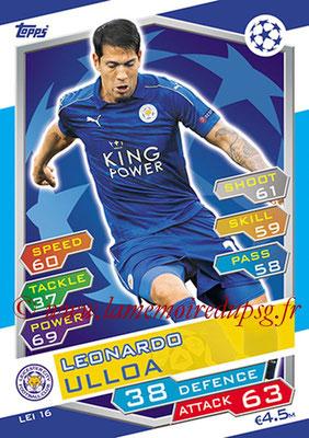 2016-17 - Topps UEFA Champions League Match Attax - N° LEI16 - Leonardo ULLOA (Leicester City FC)