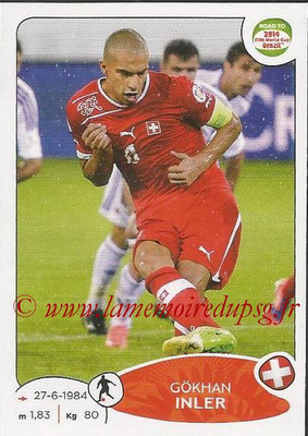 2014 - Panini Road to FIFA World Cup Brazil Stickers - N° 363 - Gokhan INLER (Suisse)