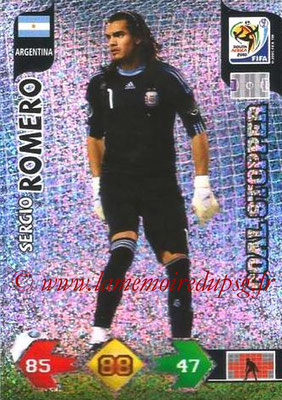 2010 - Panini FIFA World Cup South Africa Adrenalyn XL - N° 023 - Sergio ROMERO (Argentine) (Goal Stopper)