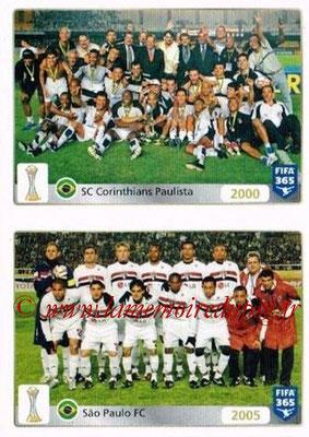 2015-16 - Panini FIFA 365 Stickers - N° 015-016 - SC Corinthians Paulista (2000) + São Paulo FC (2005) (FIFA Club World Cup)