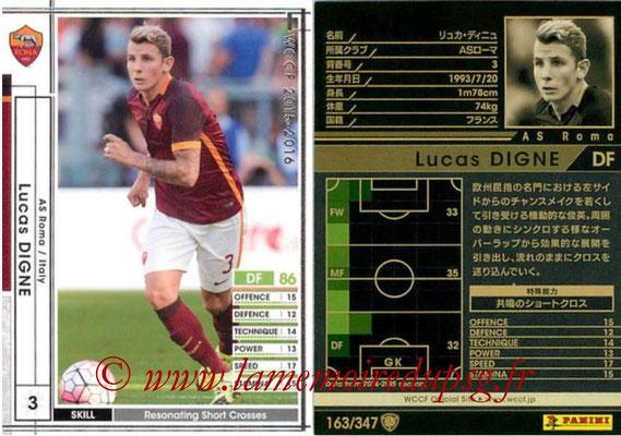 N° 163 - Lucas DIGNE (2013-15, PSG > 2015-16, Prêt AS Roma, ITA)