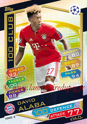 2016-17 - Topps UEFA Champions League Match Attax - N° 100C3 - David ALABA (FC Bayern Munich) (100 Club)