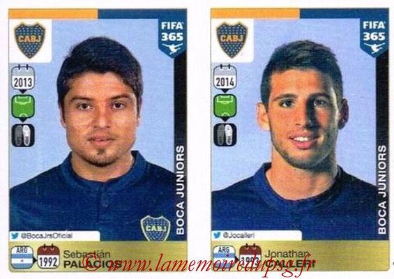 2015-16 - Panini FIFA 365 Stickers - N° 097-098 - Sebastian PALACIOS + Jonathan CALLERI (CA Boca Juniors)