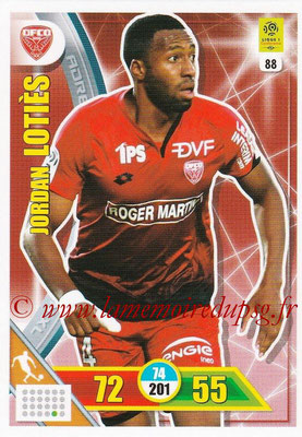 2017-18 - Panini Adrenalyn XL Ligue 1 - N° 088 - Jordan LOTIES (Dijon)
