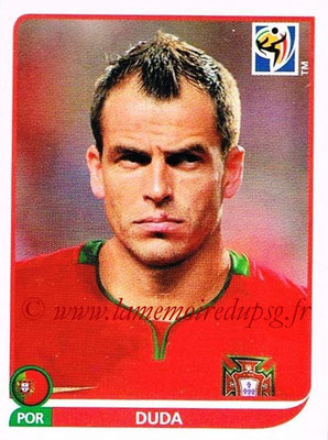 2010 - Panini FIFA World Cup South Africa Stickers - N° 552 - DUDA (Portugal)