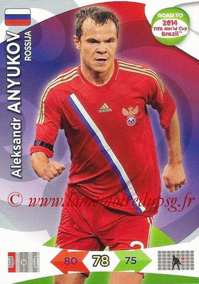 2014 - Panini Road to FIFA World Cup Brazil Adrenalyn XL - N° 158 - Aleksander ANYUKOV (Russie)