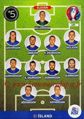 Panini Euro 2016 Cards - N° 171 - Équipe Type d' Islande