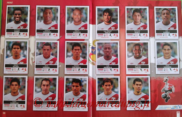 Panini Copa América Argentina 2011 - Pages 38 et 39 - Pérou