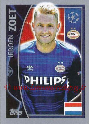 2015-16 - Topps UEFA Champions League Stickers - N° 090 - Jeroen ZOET (PSV Eindhoven)