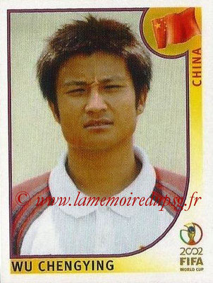 2002 - Panini FIFA World Cup Stickers - N° 210 - Wu CHENGYING (Chine)