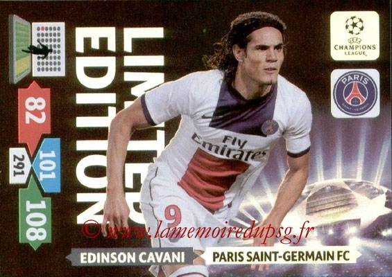 2013-14 - Adrenalyn XL champions League N° LE40 - Edinson CAVANI (Paris Saint-Germain) (Limited edition)