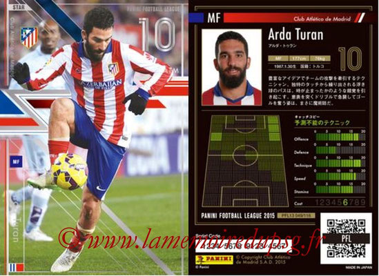 Panini Football League 2015 - PFL13 - N° 049 - Arda TURAN (Club Atletico de Madrid) (Star)