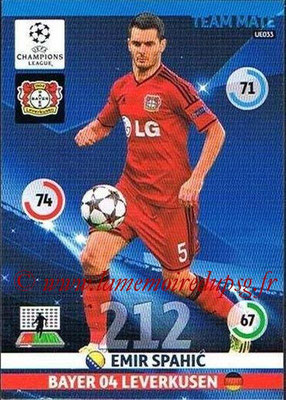 2014-15 - Adrenalyn XL champions League Update edition N° UE033 - Emir SPAHIC (Bayer Leverkusen)