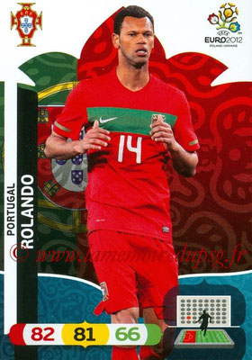 Panini Euro 2012 Cards Adrenalyn XL - N° 165 - ROLANDO (Portugal)