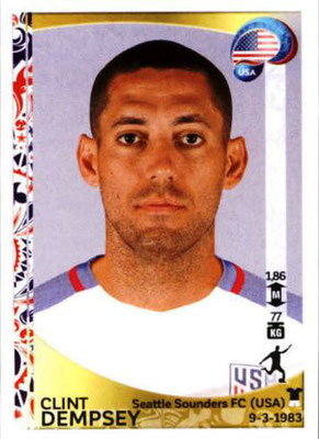 Panini Copa America Centenario USA 2016 Stickers - N° 036 - Clint DEMPSEY (USA)