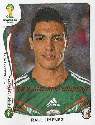 2014 - Panini FIFA World Cup Brazil Stickers - N° 087 - Raul JIMENEZ (Mexique)