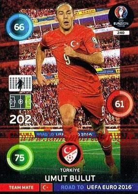 Panini Road to Euro 2016 Cards - N° 240 - Umut BULUT (Turquie)