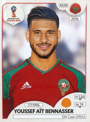 2018 - Panini FIFA World Cup Russia Stickers - N° 167 - Youssef AIT BENNASSER (Maroc)