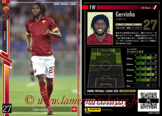 Panini Football League 2015 - PFL09 - N° 028 - GERVINHO (AS Rome)