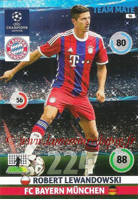 2014-15 - Adrenalyn XL champions League N° 096 - Robert LEWANDOWSKI (Bayern Munich)