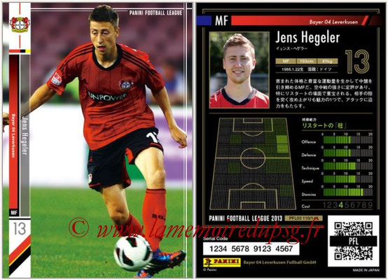 Panini Football League 2013 - PFL03 - N° 110 - Jens Hegeler (Bayer Leverkusen)