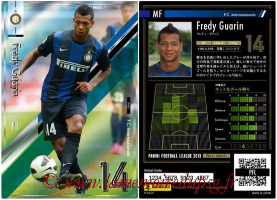 Panini Football League 2013 - PFL01 - N° 030 - Fredy Guarin ( F.C. Internazionale )