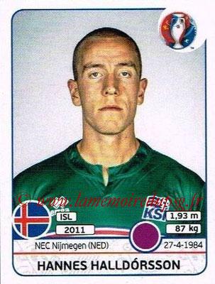 Panini Euro 2016 Stickers - N° 609 - Hannes HALLDORSSON (Islande)