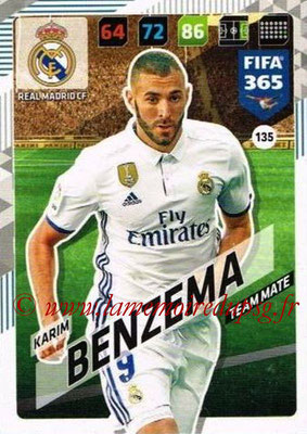 2017-18 - Panini FIFA 365 Cards - N° 135 - Karim BENZEMA (Real Madrid CF)