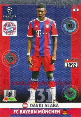 2014-15 - Adrenalyn XL champions League N° 089 - David ALABA (Bayern Munich) (Rising star)