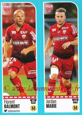 2016-17 - Panini Ligue 1 Stickers - N° 182 + 183 - Florent BALMONT + Jordan MARIE (Dijon)