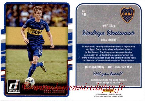 2016 - Panini Donruss Cards - N° 048 - Rodrigo BENTANCUR (CA Boca Juniors)