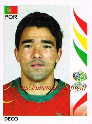 2006 - Panini FIFA World Cup Germany Stickers - N° 292 - DECO (Portugal)