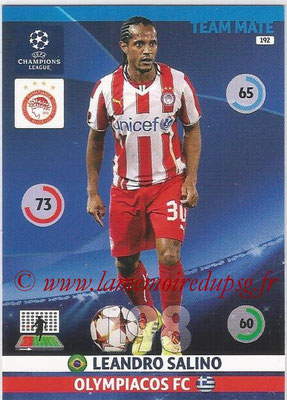 2014-15 - Adrenalyn XL champions League N° 192 - Leandro SALINO (Olympiacos FC)