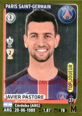 2015-16 - Panini Ligue 1 Stickers - N° 343 - Javier PASTORE (Paris Saint-Germain) (Top Joueur)