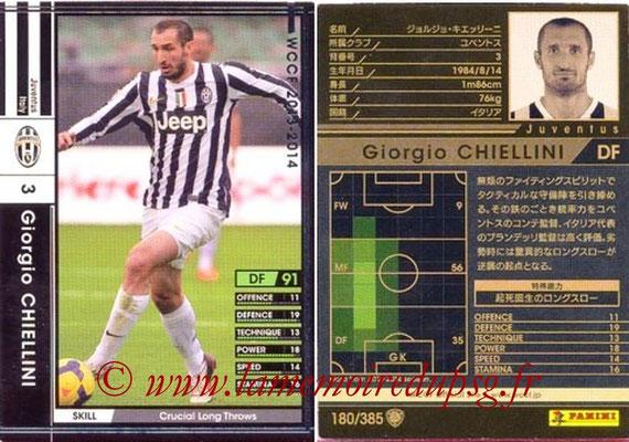 2013-14 - WCCF - N° 180 - Giorgio CHIELLINI (Juventus FC)