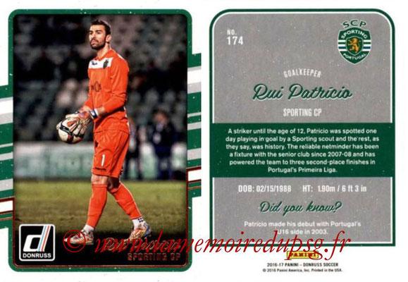 2016 - Panini Donruss Cards - N° 174 - Rui PATRICIO (Sporting CP)