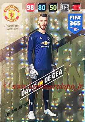 2017-18 - Panini FIFA 365 Cards - N° LE-DDG - David DE GEA (Manchester United) (Limited Edition)