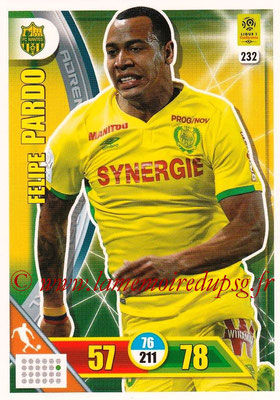 2017-18 - Panini Adrenalyn XL Ligue 1 - N° 232 - Felipe PARDO (Nantes)