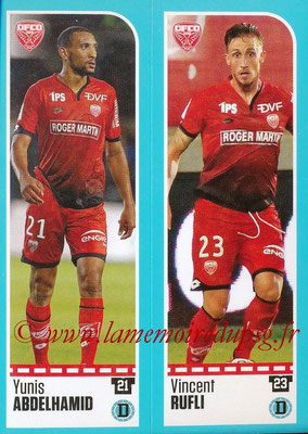 2016-17 - Panini Ligue 1 Stickers - N° 180 + 181 - Yunis ABDELHAMID + Vincent RUFLI (Dijon)