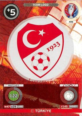 Panini Euro 2016 Cards - N° 406 - Logo de Turquie (Team Logo)
