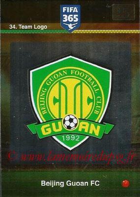 2015-16 - Panini Adrenalyn XL FIFA 365 - N° 034 - Ecusson Beijing Guoan FC (Team Logo)