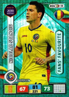 2018 - Panini Road to FIFA World Cup Russia Adrenalyn XL - N° ROU13 - Nicolae STANCIU (Roumanie) (Fans' Favourite)