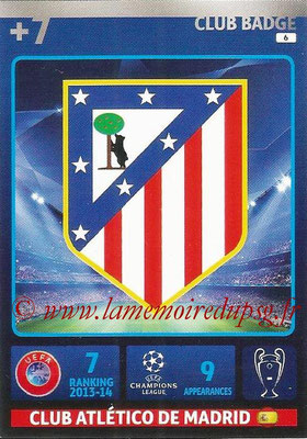2014-15 - Adrenalyn XL champions League N° 006 - Logo Atletico Madrid (Club Badge)