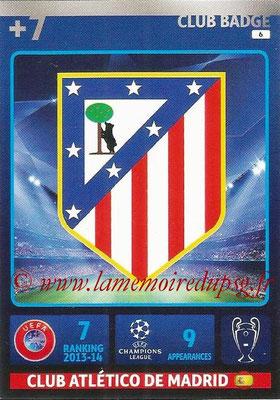 2014-15 - Adrenalyn XL champions League N° 006 - Logo Atletico Madrid (Club Badge)