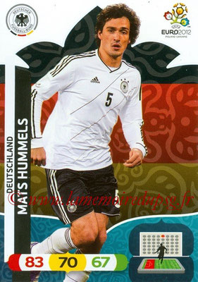 Panini Euro 2012 Cards Adrenalyn XL - N° 030 - Mats HUMMELS (Allemagne)