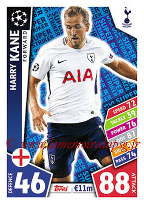 2017-18 - Topps UEFA Champions League Match Attax - N° SS08 - Harry KANE (Tottenham Hotspur) (Super Strikers)