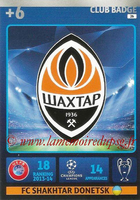 2014-15 - Adrenalyn XL champions League N° 026 - Logo FC Shakhtar Donetsk (Club Badge)