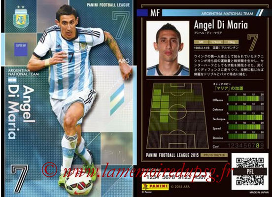Panini Football League 2015 - PFL13 - N° 102 - Angel DI MARIA (Argentine) (Super MF)
